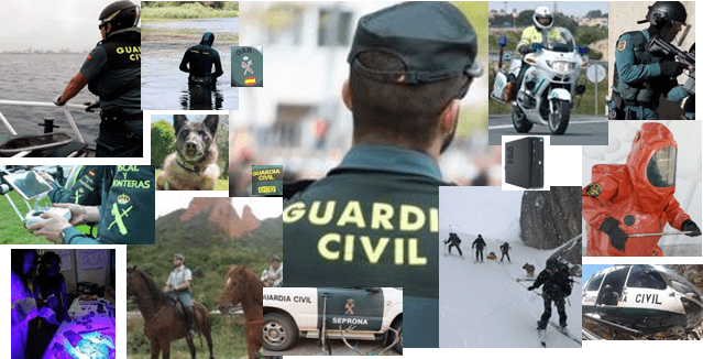 Especialidades de la Guardia Civil
