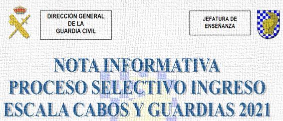 Aviso para las oposiciones a Guardia Civil 2021
